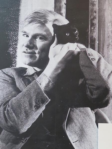 Warhol with Kitten 1957