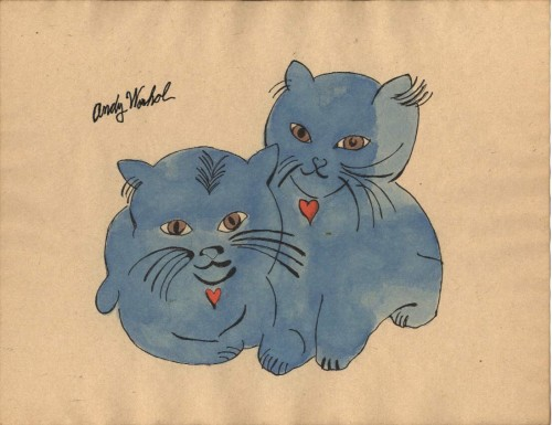Andy Warhol, Two Blue Kittens 1954