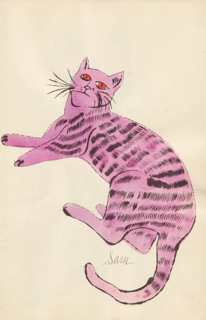 Andy Warhol Lavender Sam Lying Down