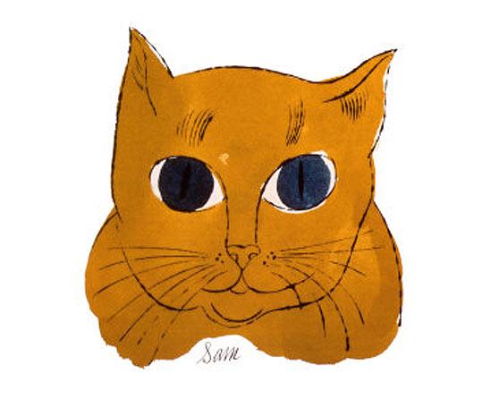 Andy Warhol Yellow Face Sam
