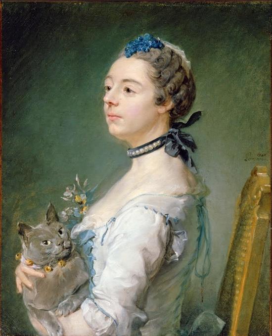 Jean-Baptiste Perronneau (French Rococo Era Painter, ca.1715-1783) Magdaleine Pinceloup de la Grange, née de Parseval, 1747