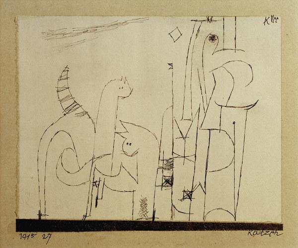 Katzen 1915 Paul Klee