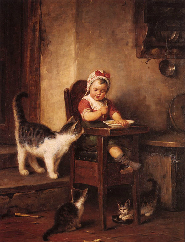 Emile Munier - Playing with the Kitten