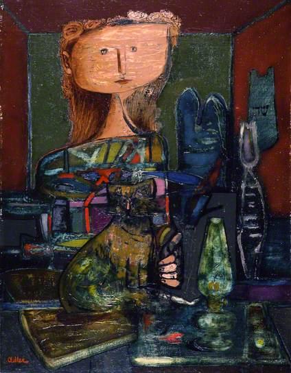 Girl and Cat, Jankel Adler
