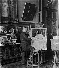 Emile Munier in his studio
