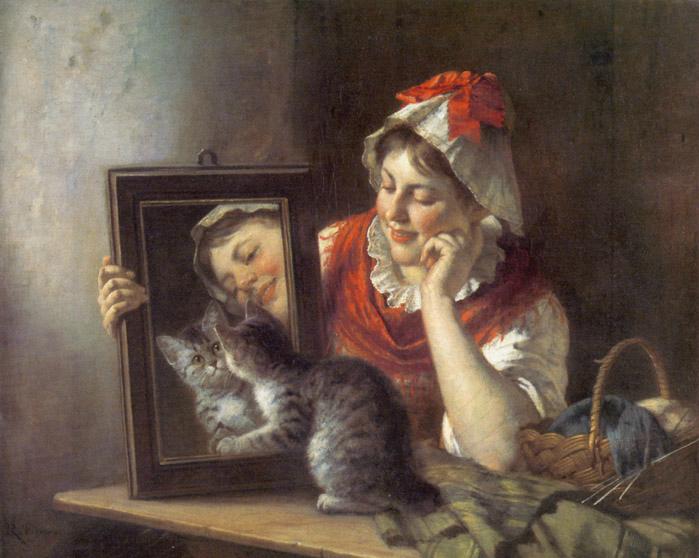 Cat and Mirror Rudolf Epp