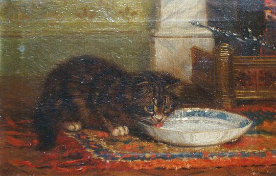 Kitten Drinking Milk, Wilson Hepple