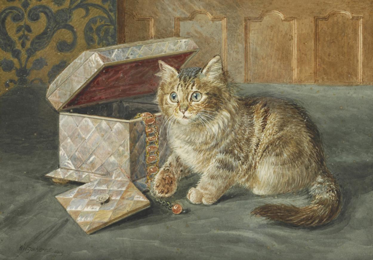Kitten beside a Jewelry Box, Wilson Hepple