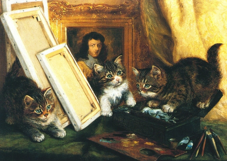 Kittens and Paintings