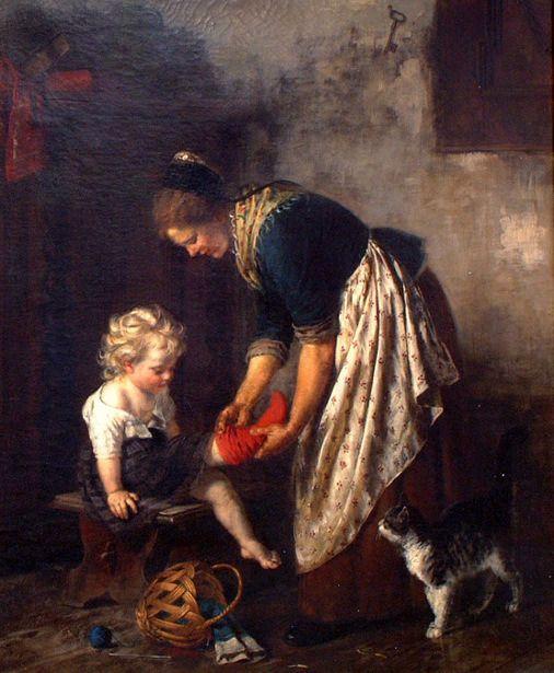 Rudolf Epp, Putting Socks on with the cat