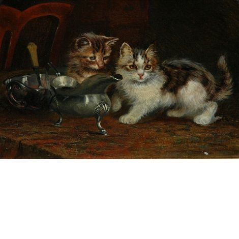 Two Kittens on the Table, Wilson Hepple
