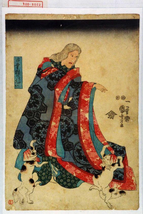 Utagawa Kuniyoshi, Two Bakenekos