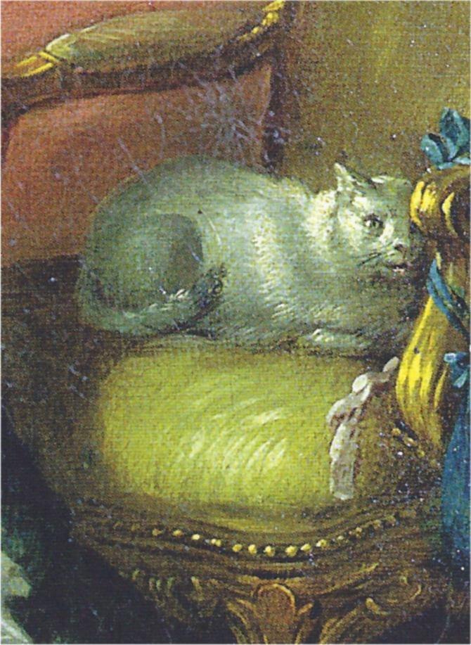 François Boucher - La modiste, 1746 - Detail