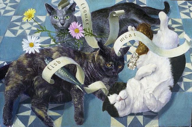 Each Idea, 2005 Tokuhiro Kawai cat art