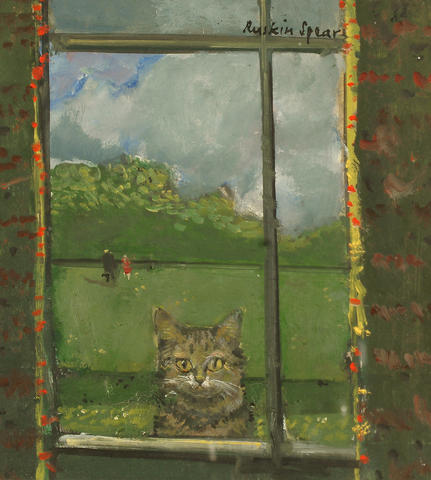 Ruskin Spear, Cat at the Window