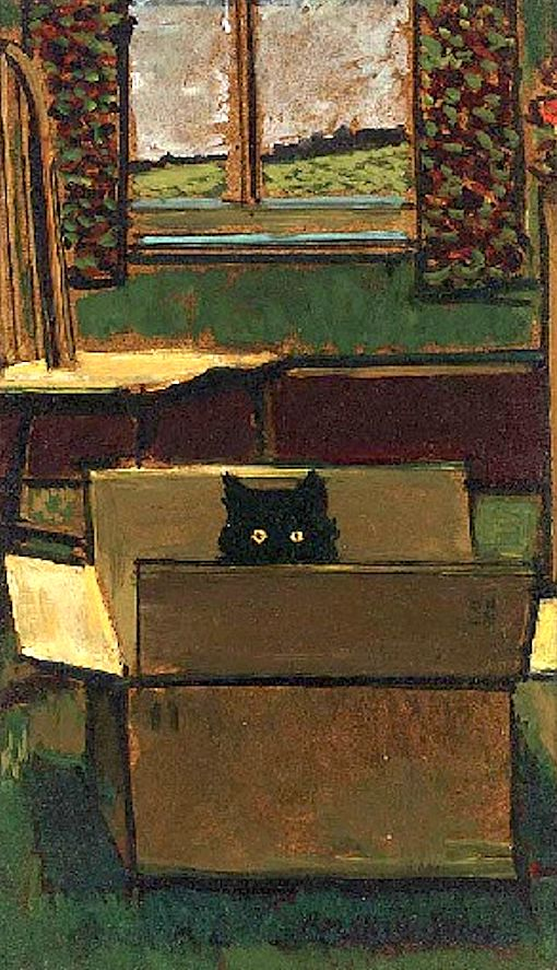 Ruskin Spear, Cat in a Box