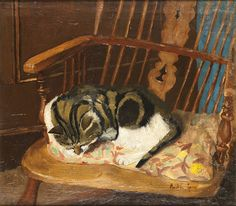 Ruskin Spear, Cat on a Chair