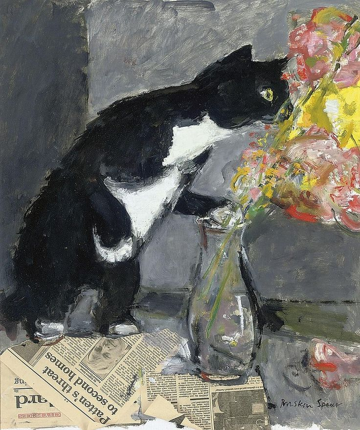 The Curious Cat, Ruskin Spear. English (1911 - 1990)