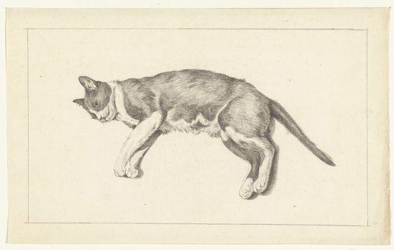 Cat Lying Down, Jean Bernard