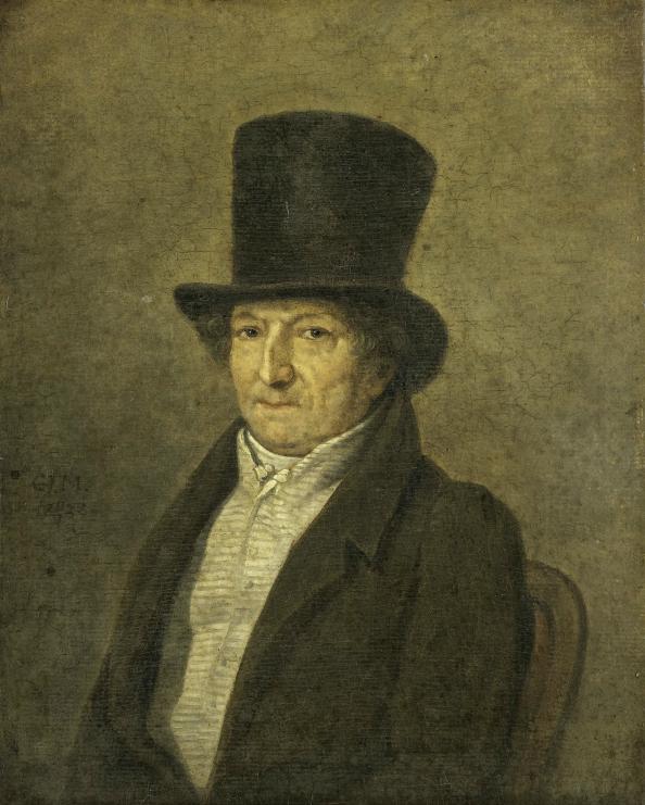 Portrait of Jean Bernard, Art Collector and Painter in Amsterdam, Gerrit Jan Michaëlis, 1828