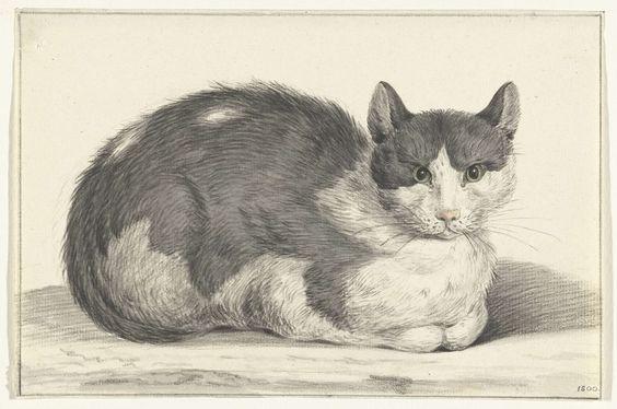 Seated Cat, 1798, Jean Bernard