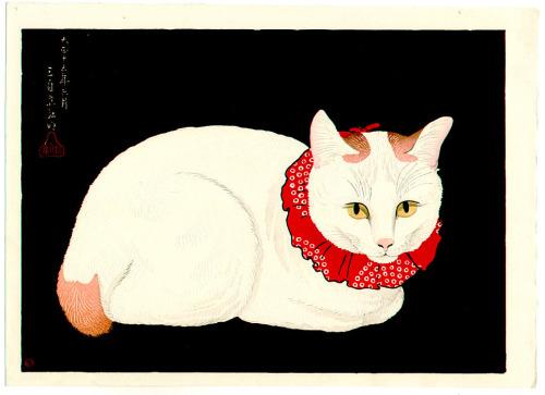 Takahashi Hiroaki Shotei Date 1926, Japanese cat art