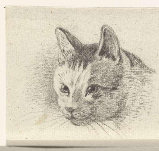 head of a cat, Jean Bernard
