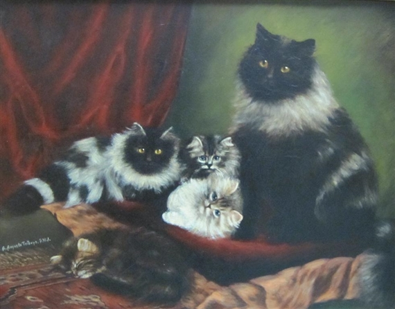 A Feline Family, Agnes Augusta Talboys private collection
