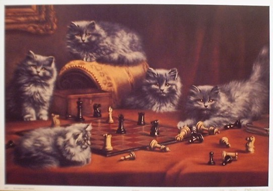 Agnes Augusta Talboys, Kittens and Chess