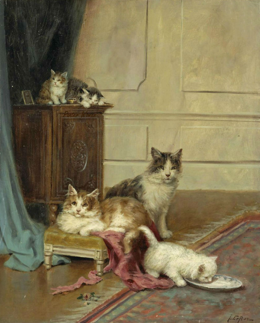 Jules Le Roy, Cats and Kittens