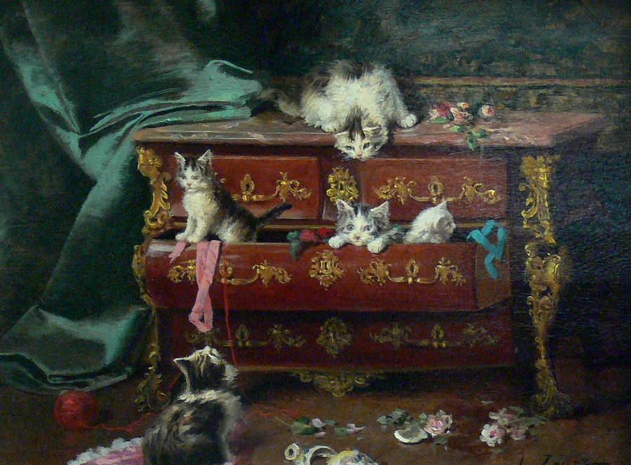 Jules Le Roy, Chatons dans une commode