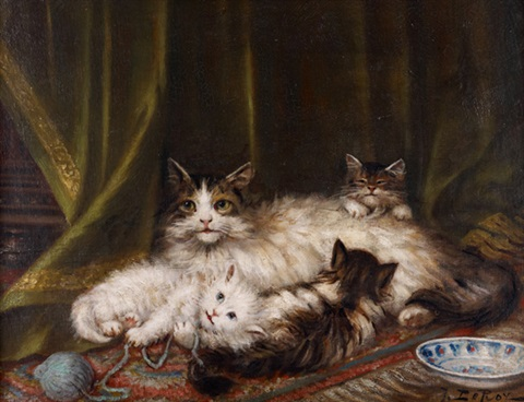 Jules Le Roy, Chatte et chatons