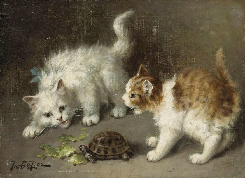 Jules Gustave Le Roy, Kittens and Turtle