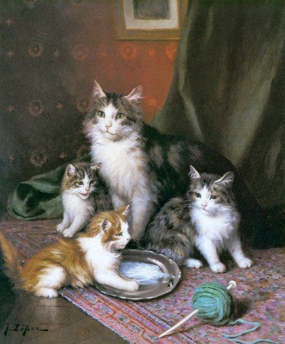 Jules Le Roy, Mother cat and Kittens