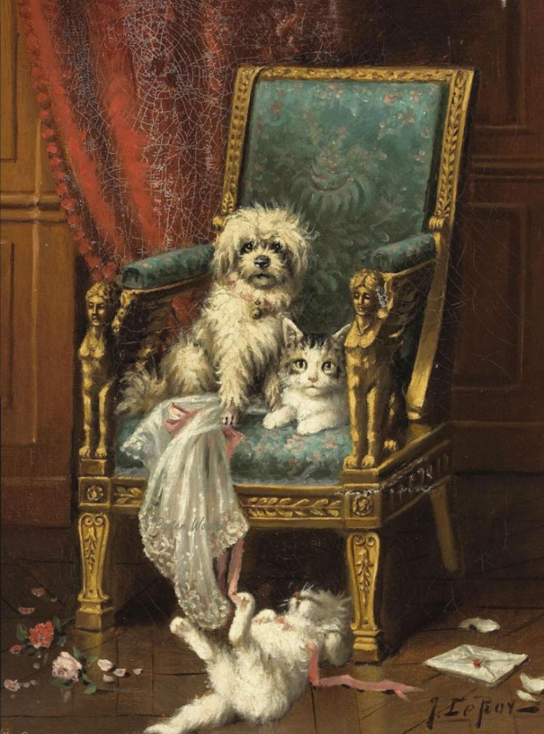 Jules Le Roy, Playing with the Dog