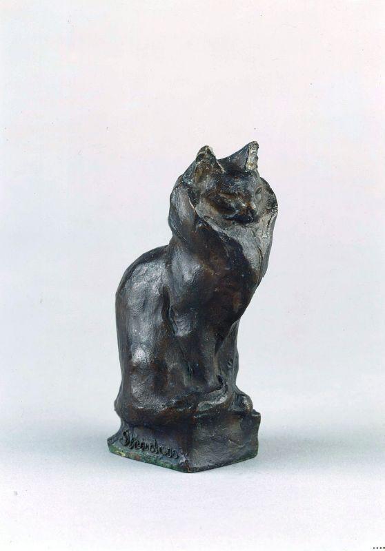 Angora Cat Statue, Theophile Steinlen