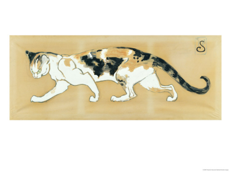 Calico Cat, Theophile Steinlen