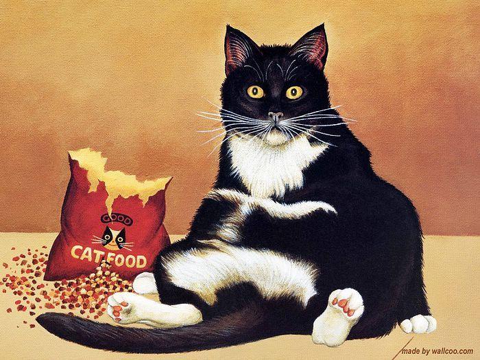 Cat Snack Time, Lowell Herrero