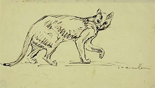 Cat Walking, Theophile Steinlen