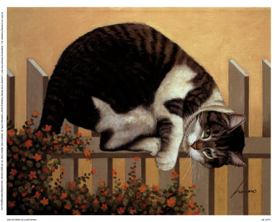 Cat on a Fence, Lowell Herrero