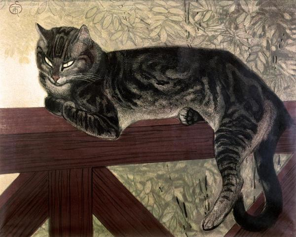 Cat on a Fence, Theophile Steinlen