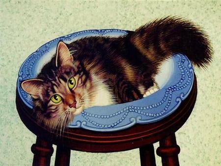 Cat on a Stool, Lowell Herrero