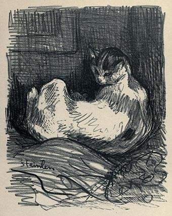 Cat on its Back, Theophile Steinlen