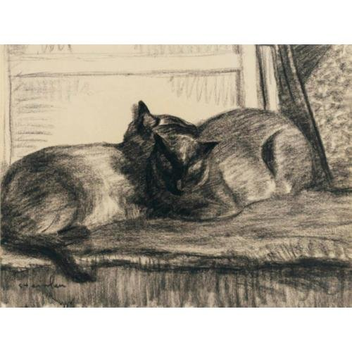 Cats Sleeping in the Studio April 1922 Theophile Steinlen
