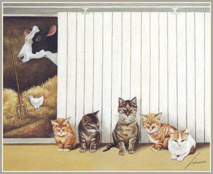 Cats in the Barn, Lowell Herrero