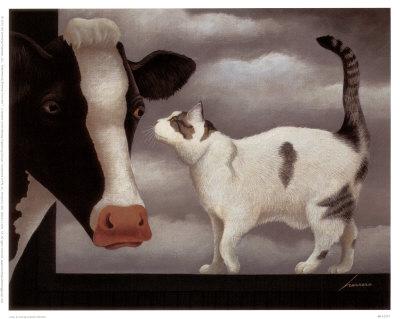 Cow and Cat, Lowell Herrero