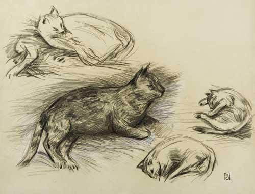 Etude des Chats Steinlen