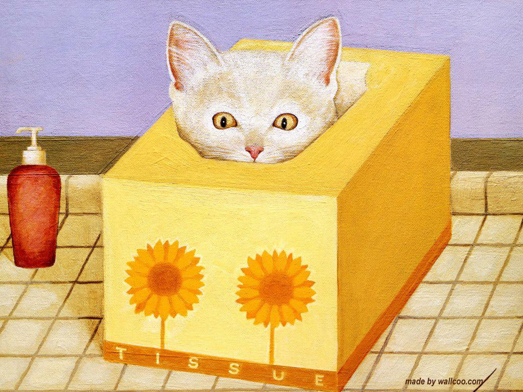 Kitten in Tissue Box, Lowell Herrero