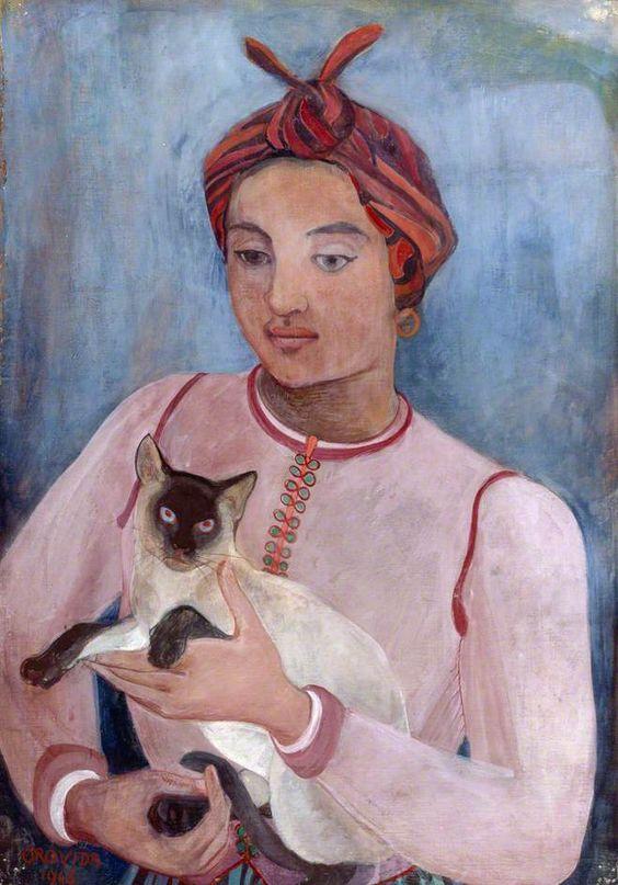 Lebeide with Sulin, 1943 - Orovida Camille Pissarro, cats, cats in art