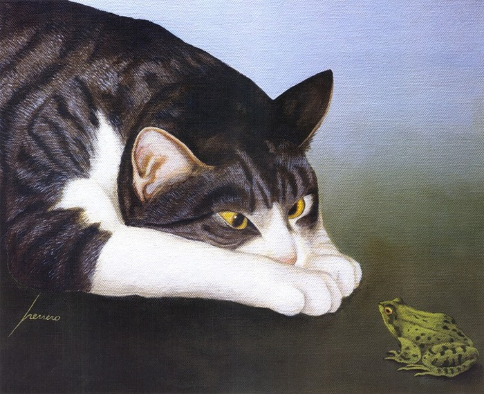 Lowell Herrero, Cat and Frog